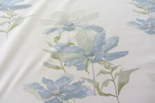 Cosmos Cotton  Blue Swaffer Designer Curtain/Craft Fabric 80cm