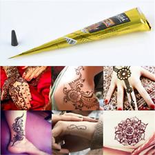 Black Natural Herbal Henna Cones Temporary Tattoo Body Art Paint Mehandi Ink Pro