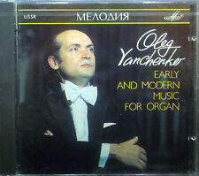 CD OLEG YANCHENKO - early and modern music for organ, Melodiya
