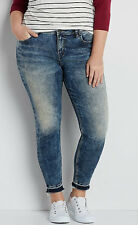 Silver Aiko Ankle Skinny Jeans Released Hem Plus Size 16 18 20 26 New