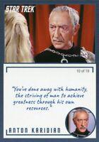 Star Trek TOS Archives & Inscriptions card #26 Anton Karidian Variation 10 of 19