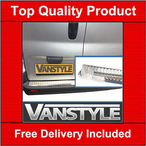 RENAULT TRAFIC 2000-14 REAR BUMPER PROTECTOR TOUGH STAINLESS STEEL COVER CHROME