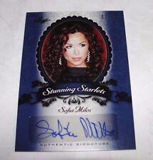 2013 Leaf Pop Century SOFIA MILOS Blue Autograph Variant/10 CSI Miami SOPRANOS