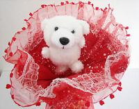 Birthday Valentine's Father's Day Purple Teddy Bear Plush Toy Bouquet Love