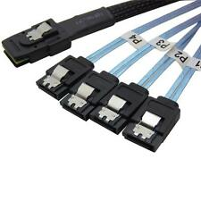 3Feet Mini SAS 36 Pin (SFF-8087)   to 4 SATA  7 Pin Disk HDD Reverse  SATA Cable