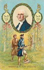 1907-15 Embossed Chromolithograph PC Washington's Birthday, At Fort DuQuesne