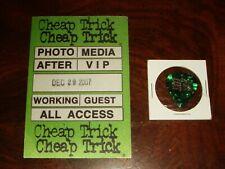 Cheap Trick Concert Memorabilia Los Angeles California 2007 Backstage Pass, Pick