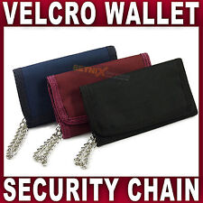 NAVY  SPORTS WALLET WITH SECURITY CHAIN 8006