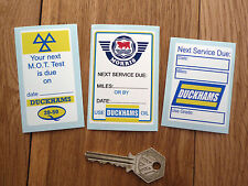 Morris & Duckhams Oil Change Service Reminder Stickers Set of 3 Minor Marina