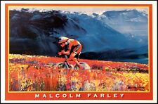 "Malcolm Farley ""Cycling"" biking offset lithograph Make an OfferL@@K"