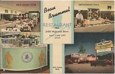 Beau Brummel Restaurant Salt Lake City UT Postcard