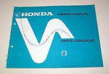 Parts Catalogue Honda MB 50 P - Stand 1983!