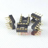 10pcs DIP8 8 Round Pin Gold-Plated Socket Adapter For DIP8 Opamp OP-AMP IC ,P08
