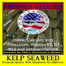 KELP SEAWEED Absolutely No Additives 100% Pure Iodine 100 Vegetarian Capsules
