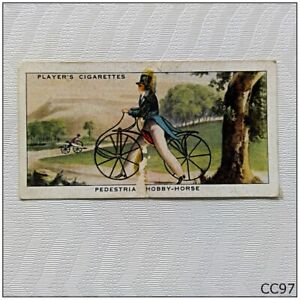 Player Cycling Cigarette Card #1 Pedestrian Hobby-Horse (CC97)