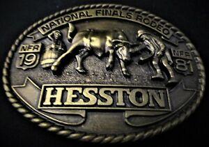 Vintage 1981 HESSTON National Finals Rodeo Belt Buckle