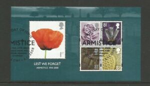GB 2008 Lest We Forget (3rd Series) Miniature Sheet Fine Used SG MS 2886