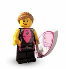 BN Genuine Lego minifigure series 4 8804-5 Female surfer girl mini figure surf
