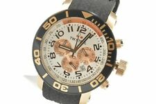 TW Steel TW76 Grandeur Diver 45 MM White Dial Black Silicone Chronograph Watch