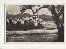 Antibes Les Remparts & Chaines des Alpes France Vintage RP Postcard 826a