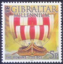 Gibraltar 2000 MNH, Millennium, The Romans 100 BC, Ships   (U8n)