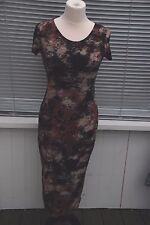 Cameo Rose Lace Covered Drop Back Maxi Dress Size M