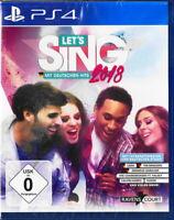 Let's Sing 2018 mit Deutschen Hits - PS4 / Playstation 4 - Neu & OVP - Deutsch