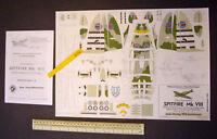 Spitfire MkVIII Wilhelmshavener Modellbaubogen Jade-Verlag 1970s Vintage Cut-Out
