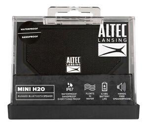 Altec Lansing Mini H20 3 Rugged Bluetooth Speaker   IMW258N-BLK-WM   Black   NEW
