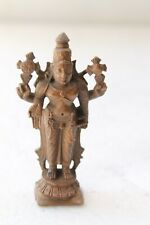 Vintage Solid Copper Hindu God Religious Vishnu Statue Figurine NH3021