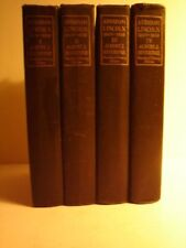 ABRAHAM LINCOLN 1809 - 1858. FOUR VOLUME STANDARD LIBRARY EDITION.