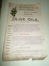 #220 Old Letter Head HILLCREST OIL CO., Hillcrest Chambers, Bradford 1910