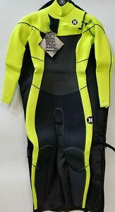 New $400 Women's Hurley Phantom 303 Wetsuit 3mm Full Suit FS Lime Black Size 10