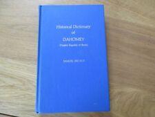 HISTORICAL DICTIONARY OF DAHOMEY - REPUBLIC OF BENIN 1976 DECALO  AFRIQUE