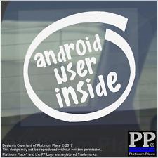 1 x Android all'interno dell'utente-Finestra, Auto, Furgone, STICKER, SEGNO, veicolo, Adesivo, telefono, TECH