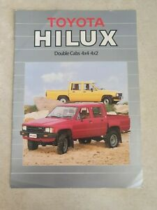 1984 Toyota Hilux Sales brochure.