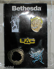 BETHESDA E3 EXPO 2015 FALLOUT 4 PIP BOY DISHONORED 2 OBLIVION  ELDER SCROLLS PIN