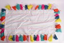 Pottery Barn PB Teen Lennon & Maisy Tassel Pop lumbar pillow cover, 12 x 24
