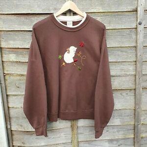Vintage Cat Embroidered Sweatshirt From USA