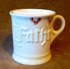 """VINTAGE SHAVING MUG W/ SOAP COMPARTMENT, """"FATHER,"""" MADE IN GERMANY"""