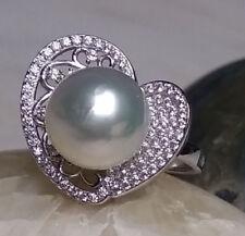 Vero Mari Del Sud Perle Anello Argento 925 10,5mm di Perline Misura Tahiti Donna