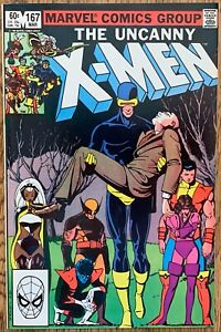 THE UNCANNY X-MEN COMIC (MARVEL,1983) #167 BRONZE AGE ~