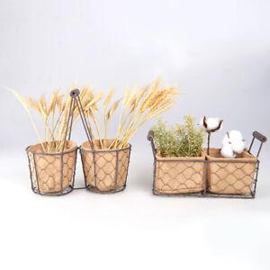 Wickerwork Basket Rattan Hanging Flower Pot Dirty Laundry Hamper Storage BaskRI