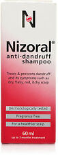 Nizoral Dandruff Shampoo For dry, flaky, itchy, red scalp - 60ml Ketoconazole 2%