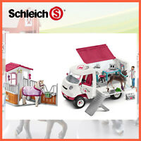 NEW SCHLEICH HORSE CLUB MOBILE VET CLINIC + HORSE BOX STALL COMBO 42368 + 42370