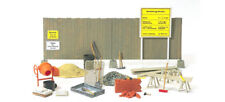Preiser 17177  Concrete mixer, boarding tools etc. 1:87 H0