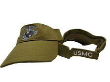 USMC Marine Marines Coyote Brown EGA Visor Cap Hat