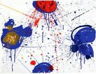 SAM Francis Abstract Art Form Limited Edition Print  Hand Signed