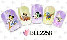 Nail Art Water Decals Stickers Transfers Mickey Mouse Sports Kawaii (2258)