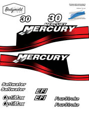 Mercury 30hp decals RED  EFI  or Saltwater Series and Four Stroke